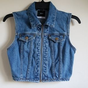 BDG Cropped Denim Vest- Urban Outfitters